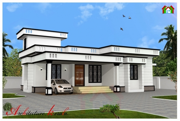 2 bedroom house plans kerala style 1200 sq feet for Kerala home plan and elevation 1000 sq ft