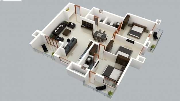 fascinating 2 story 3d floor plan and bedroom house plans storymodern style 4 bedroom 2 story