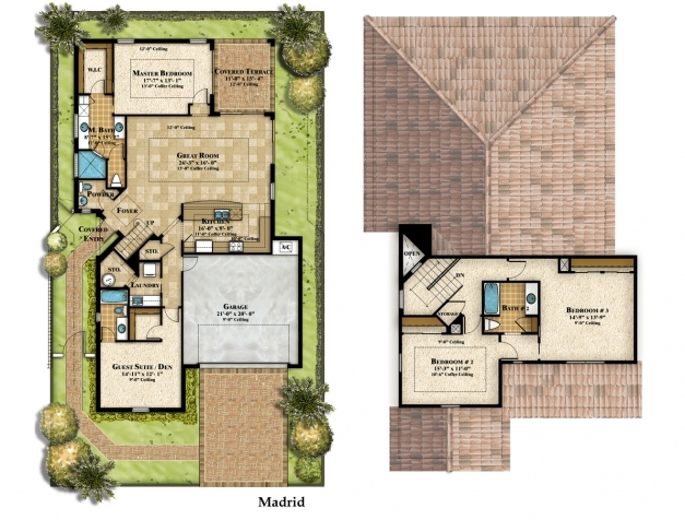 Incredible 2 Floor House Plans Withal 2 Bedroom One Story Homes 4