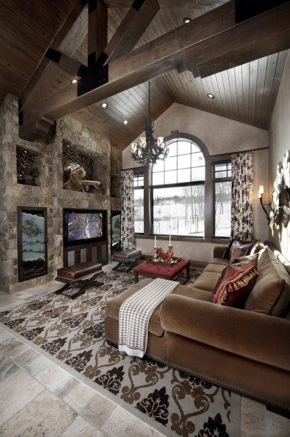 Marvelous Rustic Design Ideas Canadian Log Homes Mountain Home Interior Design Image