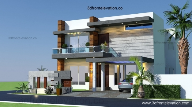 Outstanding 28 3d Home Design 5 Marla 3d Front Elevation Com 10 Marla Stylish Home Front Pictures