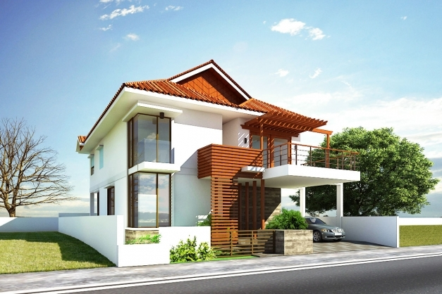 Outstanding Front House Designs Stylish Home Front Image