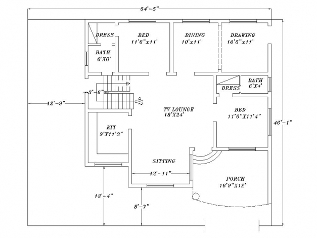 Remarkable 28 2d home design pic draw autocad 2d house for Home plan drawing