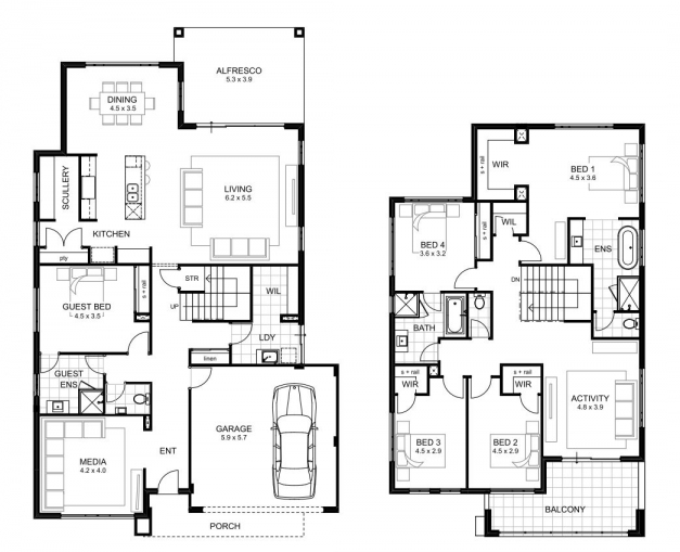 Remarkable 5 Bedroom House Designs Perth Double Storey Apg Homes Limpopo Floor Plans Images