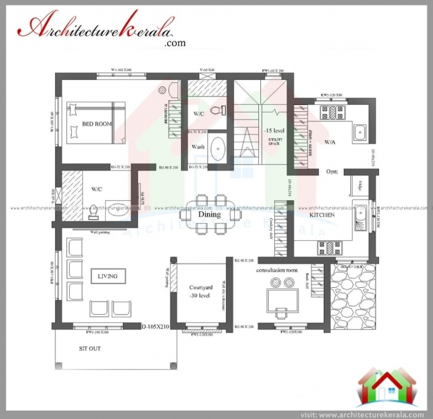 Marvelous 1000 sqft single storied house plan and for Kerala house plans 1200 sq ft