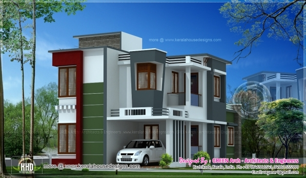 front elevation of duplex house in 700 sq ft house floor