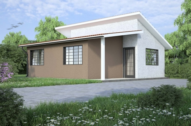 Amazing flat roof house designs in kenya house design flat for Flat roof bungalow designs