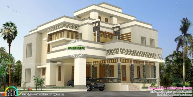 Awesome 4850 Sq Ft Modern And Stylish House Plan Kerala Home Design Stylish Houses In Kerala Picture