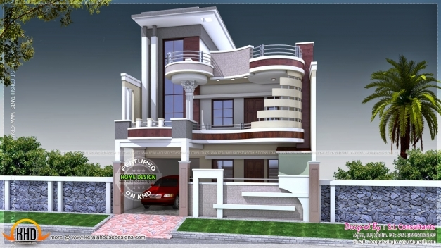 Front Elevation Duplex Houses Kerala : Front elevation of duplex house in sq ft floor