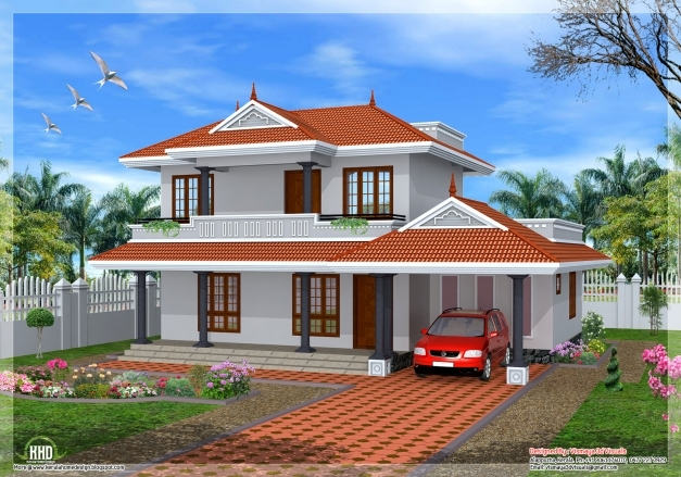 Best 2001 Sqfeet 3 Bedroom Sloping Roof Home Design Kerala House 3 Bedroom House Plans In Kerala Single Floor 3d Pictures