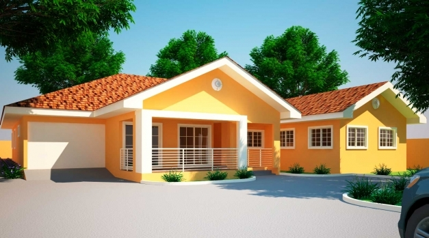 Delightful House Plans Ghana Jonat 4 Bedroom House Plan In Ghana 2951 4 3d 4 Bedroom Modern House Plans Images