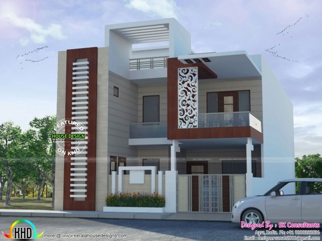 Outstanding house designs single floor front elevation for House pictures designs