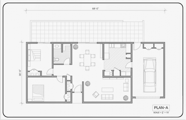 Gorgeous Autocad Architectural Drafting Autocad 2D Plan Image Image