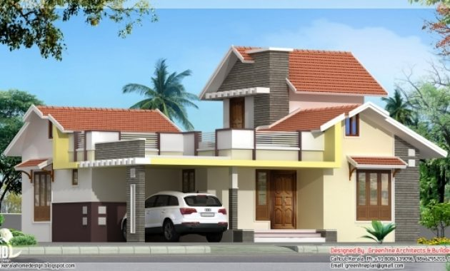 Incredible 3 Bedroom 1250 Sqfeet Single Floor House Kerala House Design Idea 3 Bedroom House Plans In Kerala Single Floor 3d Image