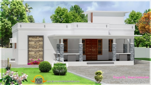 Incredible Small House Elevation With 3d Rendering And 2d Drawing Kerala 3 Bedroom House Plans In Kerala Single Floor 3d Photo