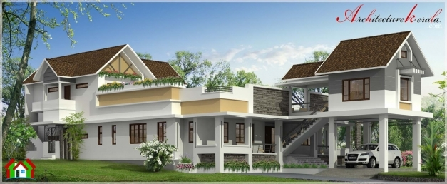 Incredible Stylish Contemporary Style Kerala House Elevation Architecture Stylish Houses In Kerala Photo