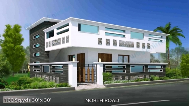 N Home Plan And Elevation : North facing house plans with elevation floor