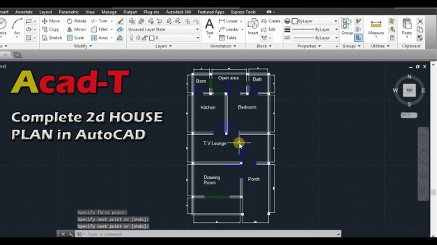 Inspiring How To Create Complete 2d House Plan In Autocad Site Plan Of Autocad 2D Plan Image Pic