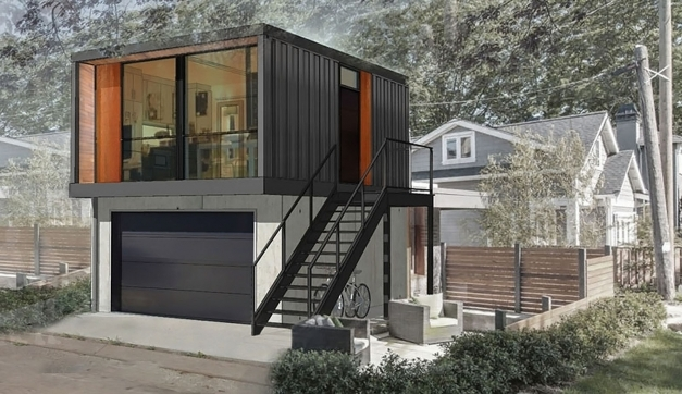 Amazing saveemailmodern prefab garage apartment modern for Prefab garages with apartment