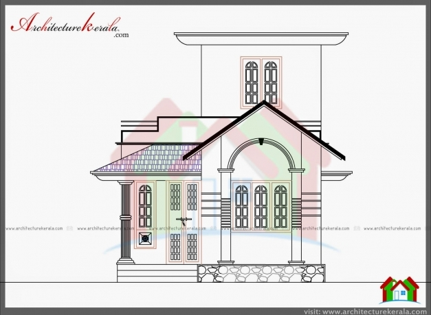 Marvelous 750 sq ft house plan and elevation architecture for Kerala home plan and elevation 1000 sq ft