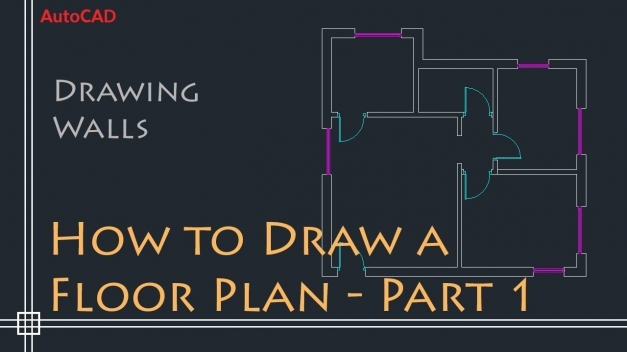 Outstanding Autocad 2d Basics Tutorial To Draw A Simple Floor Plan Fast And Autocad 2D Plan Image Picture
