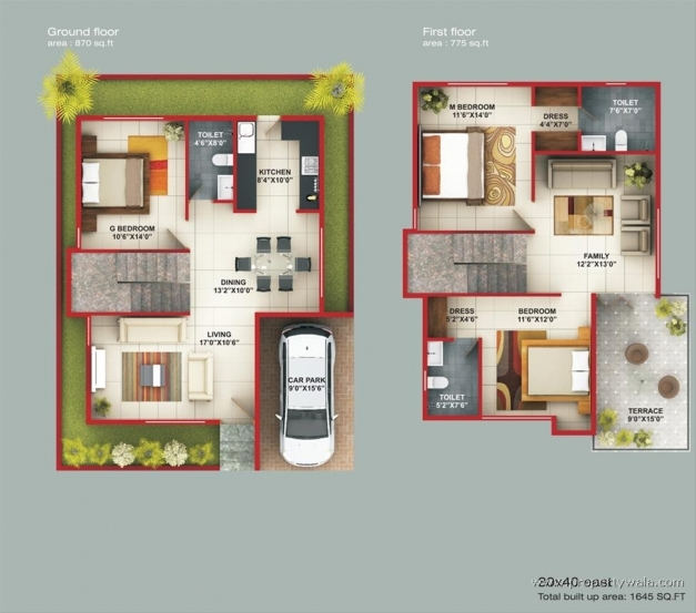 Outstanding Floor Plan Duplex House Bangalore Gurus Floor Front Elevation Of Indian House 30x50 Site Image