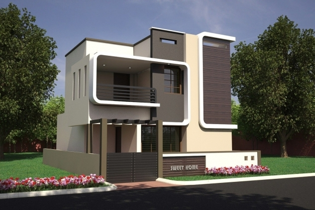 Single Floor Elevation Image : Outstanding house designs single floor front elevation