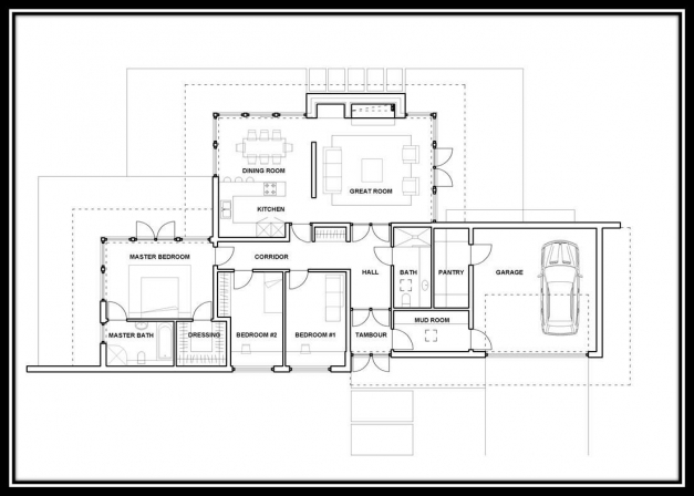 Modern House Plans Single Storey House Floor Plans