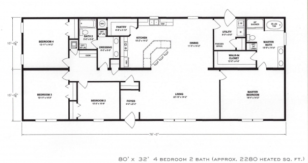 Remarkable Bedroom Floor Plan Shoise Com 4bedroom Fantastic Plans Zhydoor 4 Bedroom Fantastic House Plan Images