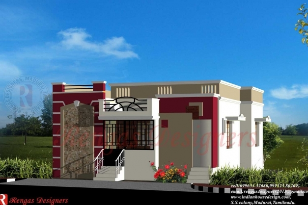 Stunning single home designs home design ideas house front for Single floor house elevation designs