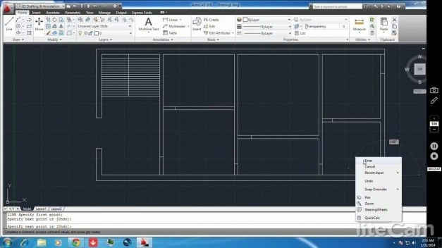 Stylish 2d Plan Construction In Autocad Youtube Autocad 2D Plan Image Pic