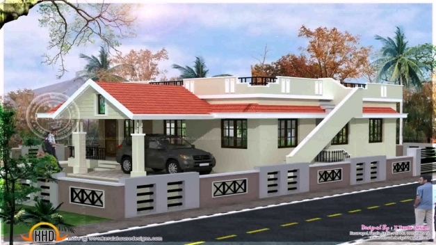 Single Floor Front Elevation Photos : House front elevation designs for single floor