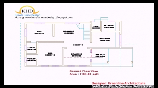 Wonderful Kerala Style 3 Bedroom House Plans Single Floor Youtube 3 Bedroom House Plans In Kerala Single Floor 3d Photos