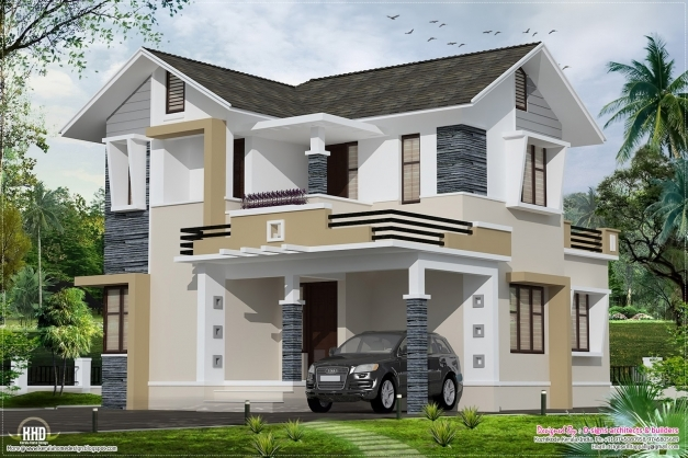 Wonderful Stylish Small Home Design Kerala Floor Plans Building Plans Stylish Houses In Kerala Picture