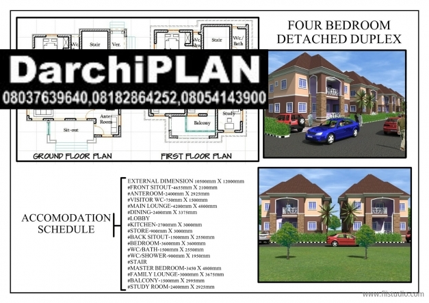 Awesome Nigeria Building Stylearchitectural Designs Darchiplan Homes 3 Bedroom Plan On A Half Plot Of Land In Nigeria Photos