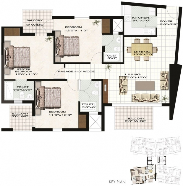 Best 4 bedroom bungalow house plans pdf savae 3 bedroom for 4 bedroom flat floor plan
