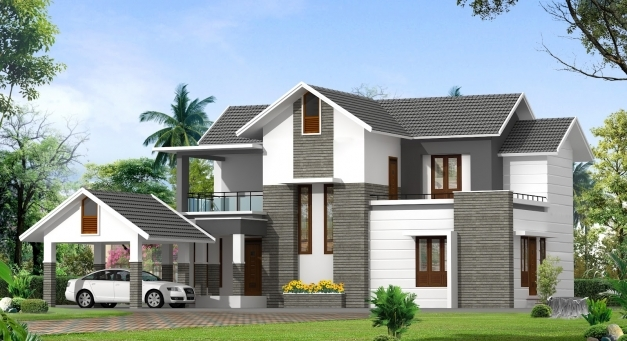 Delightful Contemporary Model Kerala Houses So Replica Houses Images Of Contemporary Houses In Kerala Image