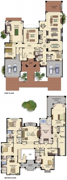 Fantastic Best 25 6 Bedroom House Plans Ideas On Pinterest Luxury Floor 3D Floor Plan With 6 Bedroom Photo