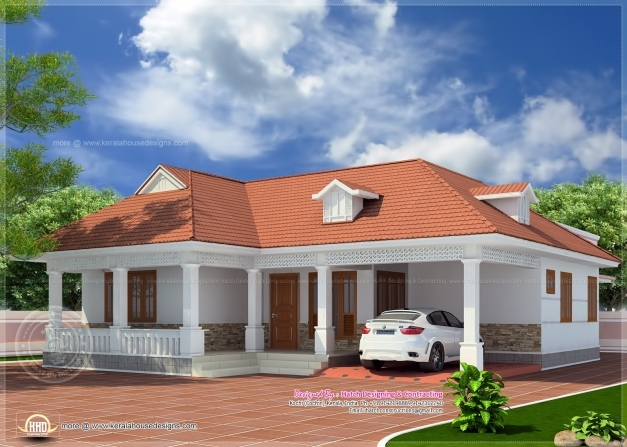 Fascinating 1850 Sqfeet Kerala Style Home Elevation Newbrough Kerala Home Design And Floor Plans Pics