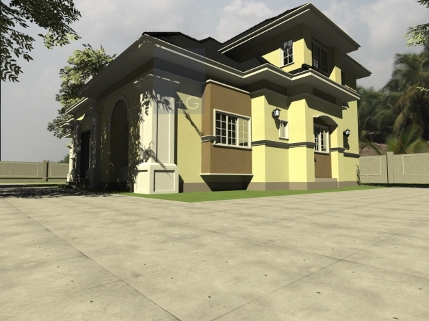 Fascinating Contemporary Nigerian Residential Architecture 3 Bedroom Plan On A Half Plot Of Land In Nigeria Picture