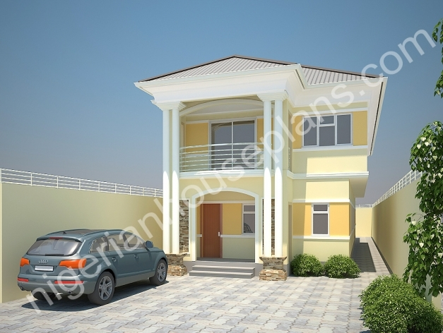 Gorgeous 4 Bedroom Duplexon Half Plot Ref 4021 Nigerianhouseplans 3 Bedroom Plan On A Half Plot Of Land In Nigeria Photos