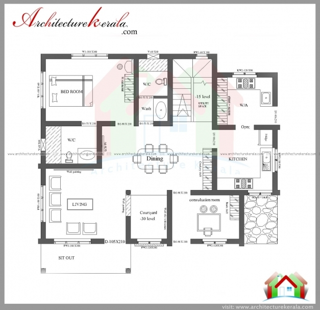 Single Floor 4 Bedroom House Plans Kerala Functionalities Net