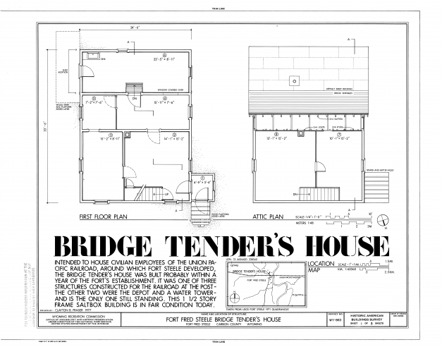 Gorgeous Filefirst Floor And Attic Plans Fort Fred Steele Bridge 15 By 45 House Layout Plan Image