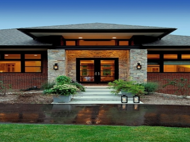 Incredible Prairie Style Exterior Doors Contemporary Craftsman Style Homes Contemporary Craftsman Style Homes Photos
