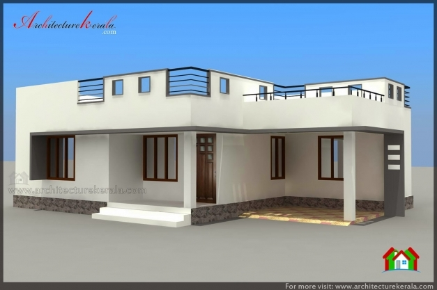 Inspiring below 1000 square feet house plan and elevation for Kerala home plan and elevation 1000 sq ft