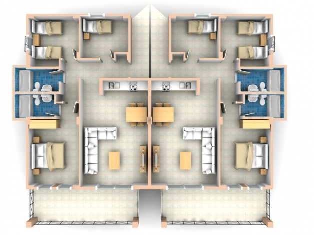 Fantastic 2 Bedroom Apartmenthouse Plans Flat Roof House