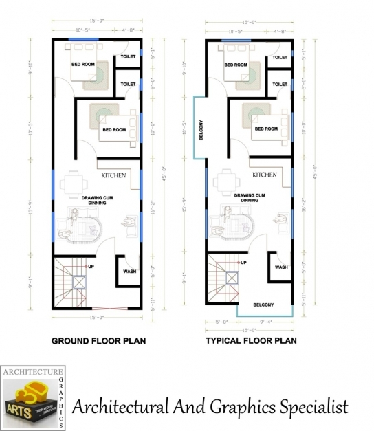 Marvelous Entry 8 Archmamun For Need A Fantastic House Plan Of 15x45 15 By 45 House Layout Plan Picture