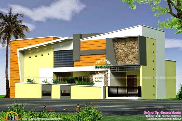 Ground Floor Modern Elevation : Elevation ground floor house plans