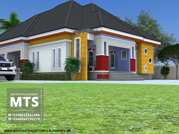 Outstanding 3 Bedroom Bungalow Residential Homes And Public Designs 3 Bedroom Plan On A Half Plot Of Land In Nigeria Images