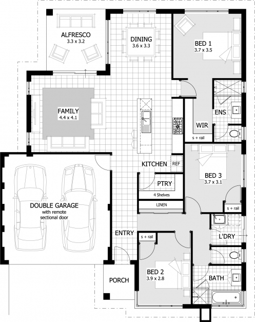 Outstanding 3 Bedroom House Plans Brisbane Memsaheb Guiapar Com Celebration House Plans Image
